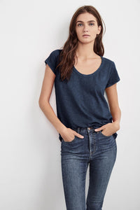 Velvet Kira03-S219 Originals Scoop Neck Tee