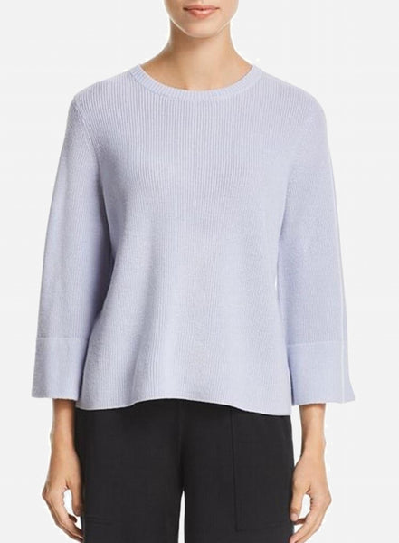 Eileen Fisher Crew Neck 3/4 Sleeve Box Top - India Sky