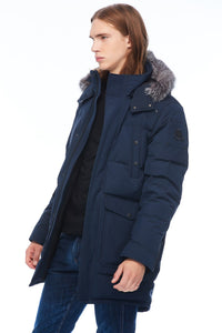 Moose Knuckles Men's Big Ridge Parka True Navy w/Frost Fox