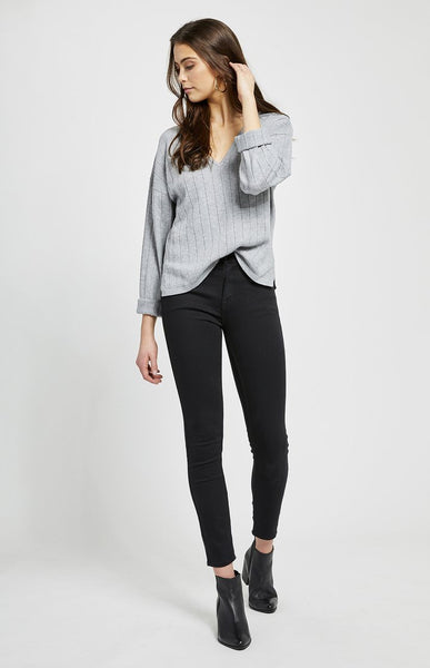 Gentle Fawn Aberdeen Ribbed V-Neck Long Sleeve