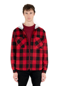 KUWALLA Hooded Heavy Flannel - Red