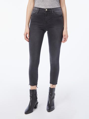 FRAME Le High Skinny Crop Raw Edge Mardel Chew