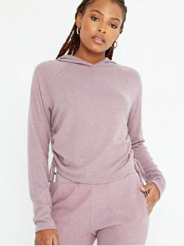 Project Social T Easy Livin Cozy Hoodie in Dusty Lavender