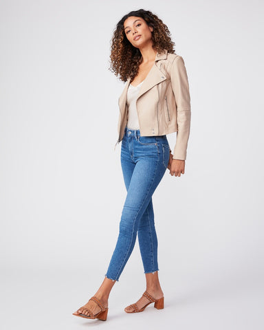 Paige Hoxton Crop with hem Detail in Bay