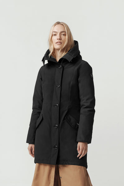 Canada Goose Women's ROSSCLAIR Parka Black Label - Black
