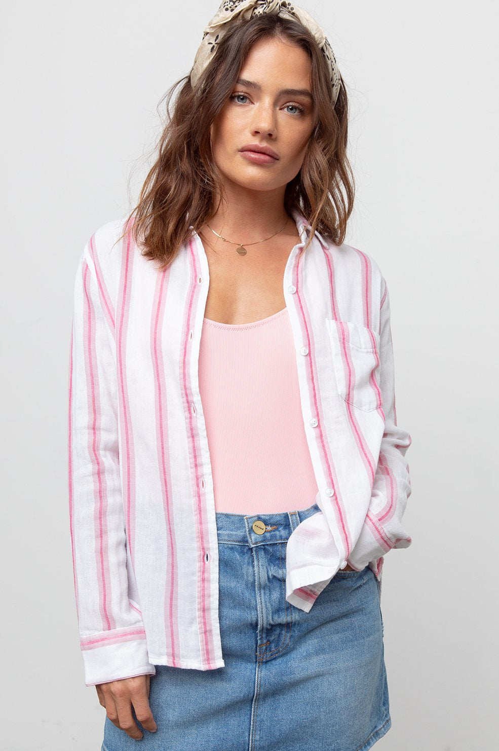 Rails cotton tulip stripe blouse