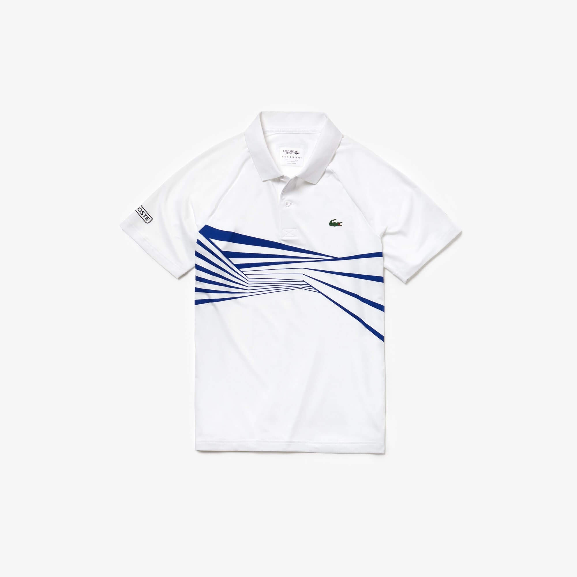 Lacoste Men's SPORT Novak Djokovic Collection Tech Jersey Polo White/Blue