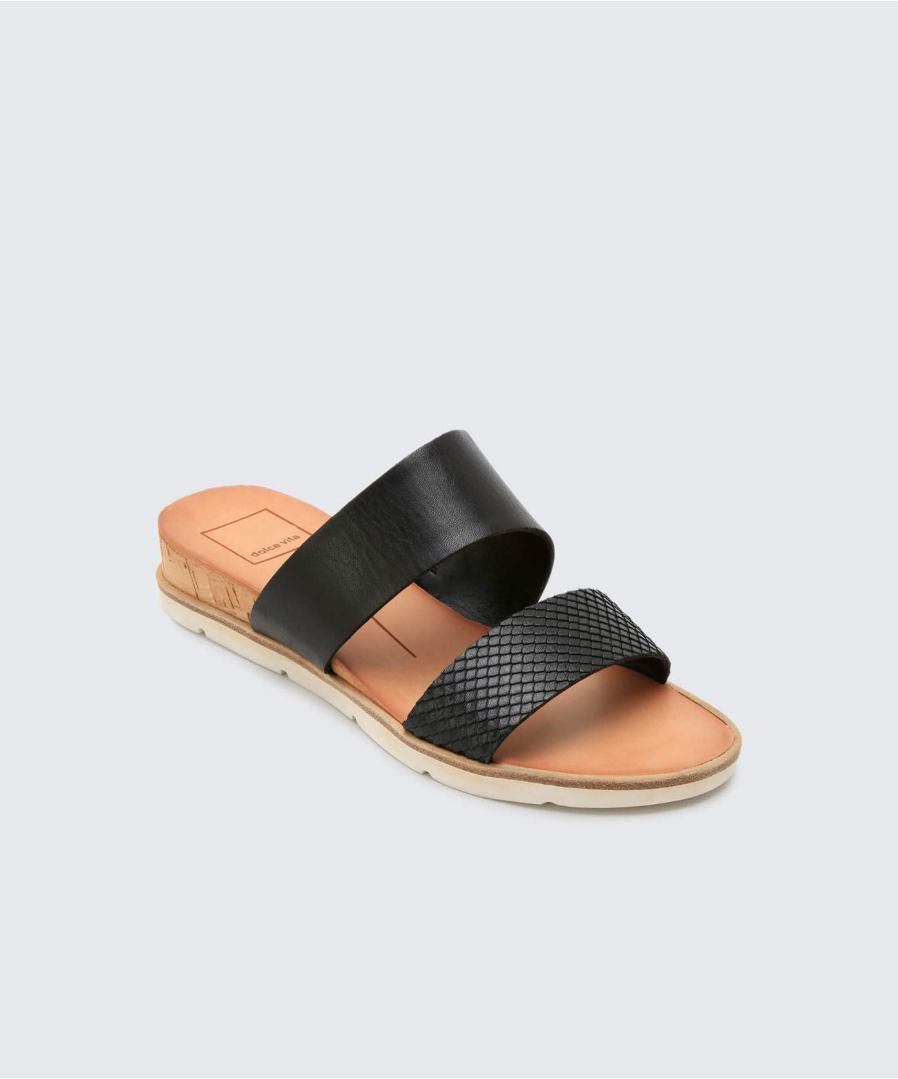 Dolce Vita Vala Double Strap Slide - Black