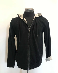 John Varvatos LS HOOD IN DBL KNIT Black