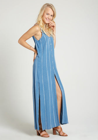 bella dahl B6786-006-811 Escondido Pleat Back Maxi Dress