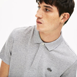 Lacoste Men's Regular Fit Stretch Cotton Paris Polo -  Silver Chine