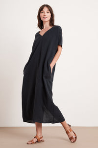 Velvet Yana Woven Linen Wide Body Dress