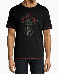 John Varvatos 3 Rose Barb Graphic Tee