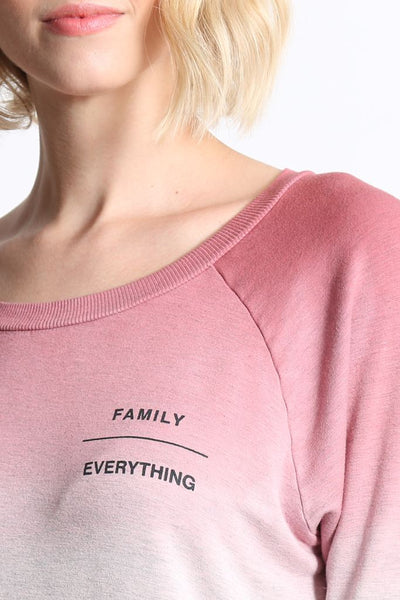 goodhYouman Family/Everything l/s Chelsea top in Rose Dust