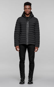 Mackage Ozzy Lightweight Hooded Down Jacket - Black