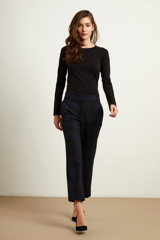 Velvet Allison04-F219 Brenley Plaid Pant