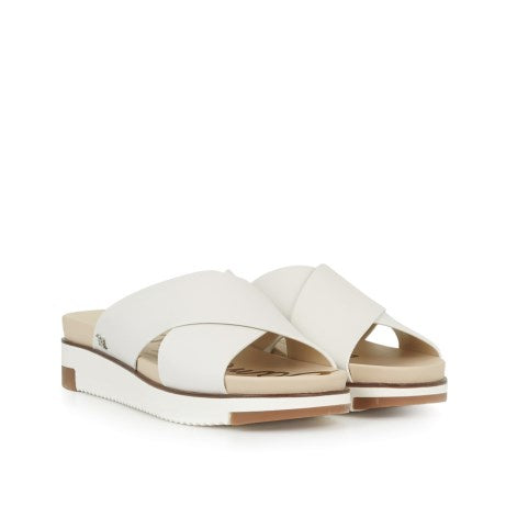 Sam Edelman Audrea Cross Strap Slide Sandal in White