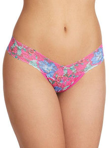hanky panky low rise thong in electric garden
