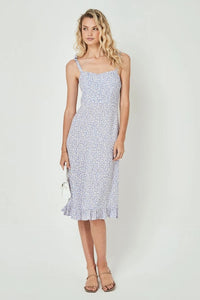 Auguste Dean Gia Midi Dress in Baby Blue
