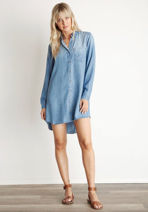 Bella Dahl B6219-549-775 Medium Ombre Pocket Shirt Dress