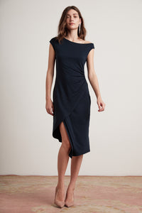 Velvet Kennedy04-F219 Tencel Jersey Asymmetrical Dress
