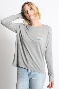goodhYouman Pets are People l/s Suzanne top in Heather