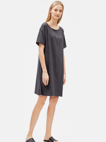 Eileen Fisher Tencel Viscose Morse Code Dress  S9TRZ-D4236M