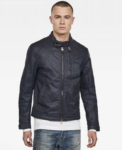 G-STAR Biker Denim Jacket rinsed