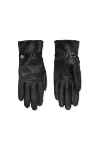 Canada Goose Women's Leather Rib Luxe Glove - Black