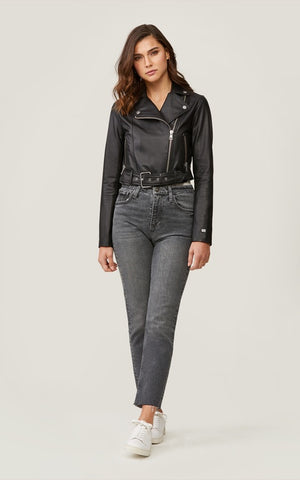 Soia & Kyo Clodia leather jacket in black