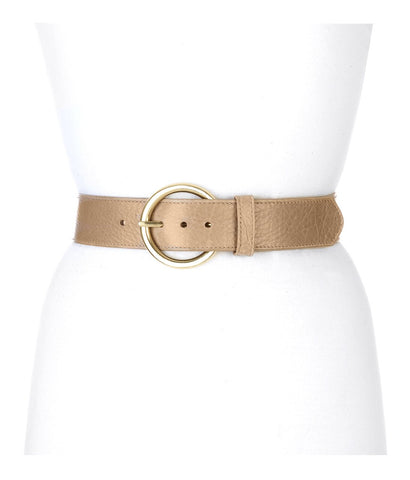 Brave Vika Circle Buckle Leather Belt in Platypus