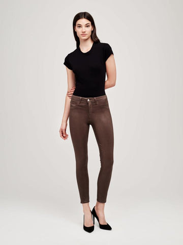 L'AGENCE Marguerite Hi Rise Skinny in Cocoa Coated