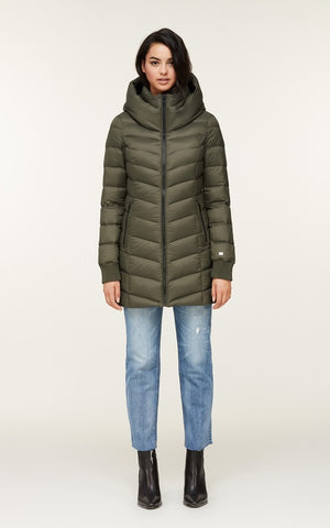 Soia&Kyo Alanis Water Repellent Lightweight Down Hooded Coat