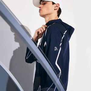 Lacoste Men's ND French Open  ZIP HOODIE 525-NAVY BLUE/WHITE