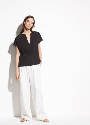 Vince Seamed Cotton Popover