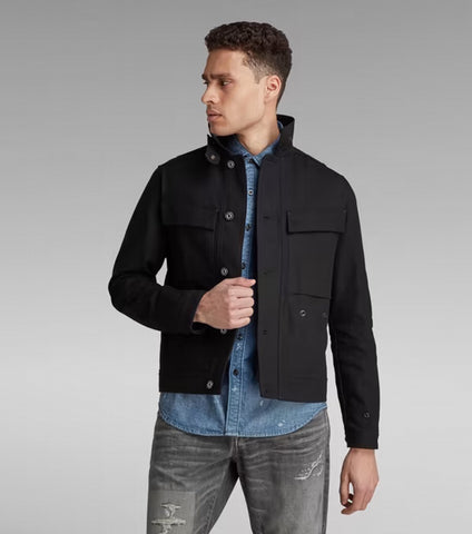 G-STAR Short Biker Overshirt - Black