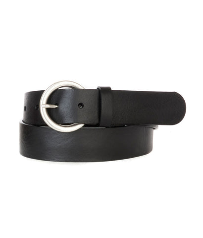 Brave Milena Circle Buckle Belt in black/silver