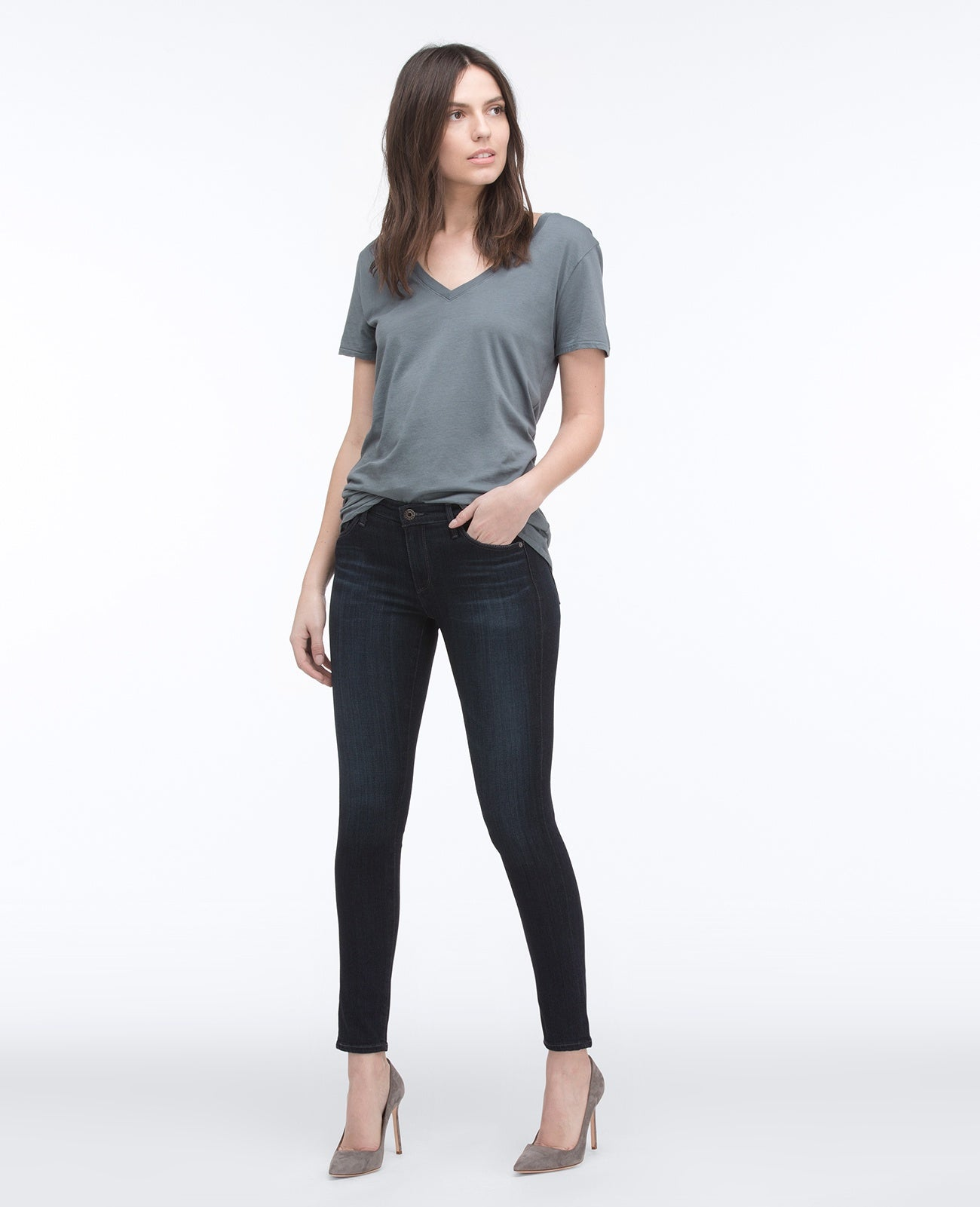 AG Women's  Legging Ankle Coal Grey