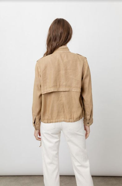 Rails Collins Linen Cupro Jacket in Toffee