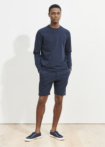 Patrick Assaraf Pima Cotton French Terry Short - Midnight