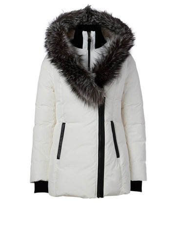 Mackage Adali-XR Classic Down Jacket in Off-White