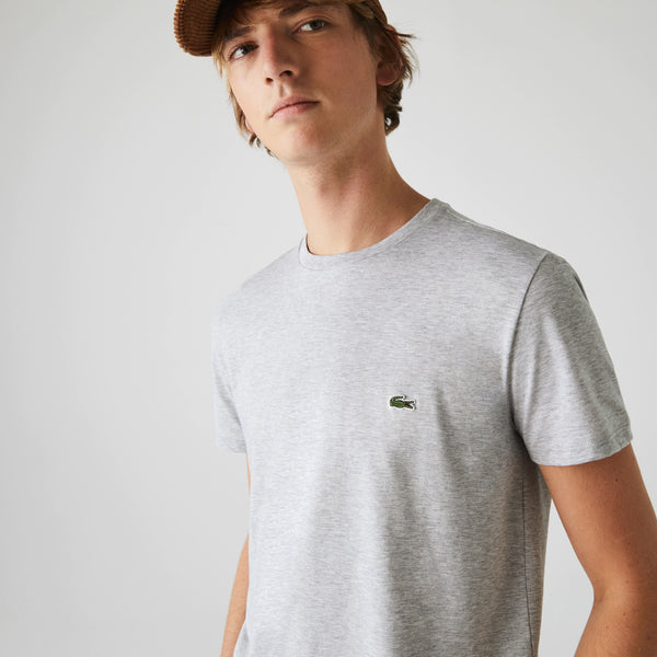Lacoste Men's Crew Neck Pima Cotton T-Shirt - Heather Grey
