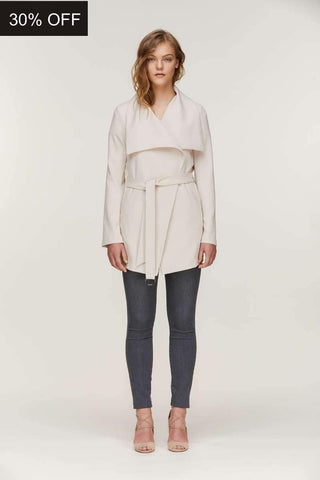 Soia&Kyo Ora Belted Coat Pearl
