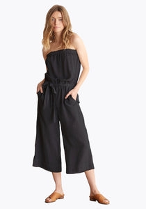 bella dahl strapless frayed crop jumpsuit -Nightshade