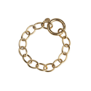 Cuchara Etta Circle Link Chain Bracelet in gold