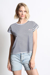 goodhYOUman  Claire Be You Striped Tee - Navy