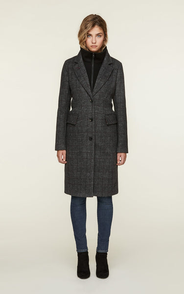 Soia&Kyo Minerva8F Plaid Coat