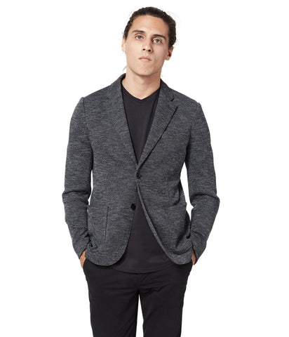 GoodMan Brand Soft Blazer Bi Color Black