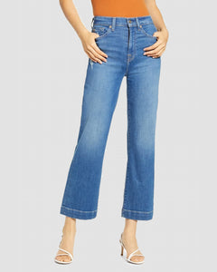 Seven For All Mankind Alexa Wide Leg Cropped Trouser Leg Northstar
