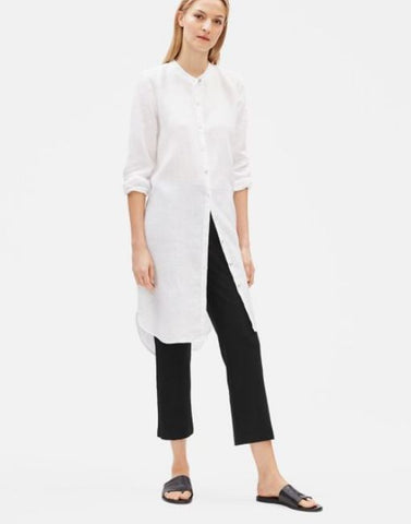Eileen Fisher Washable Stretch Crepe Flare Ankle Pant - Black